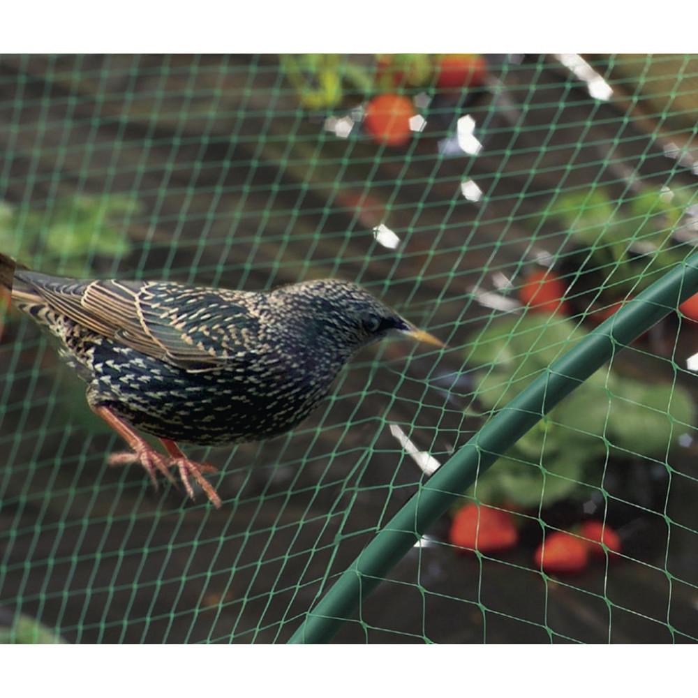 Malla anti pájaros 4x12m verde BIRDNET Nortene
