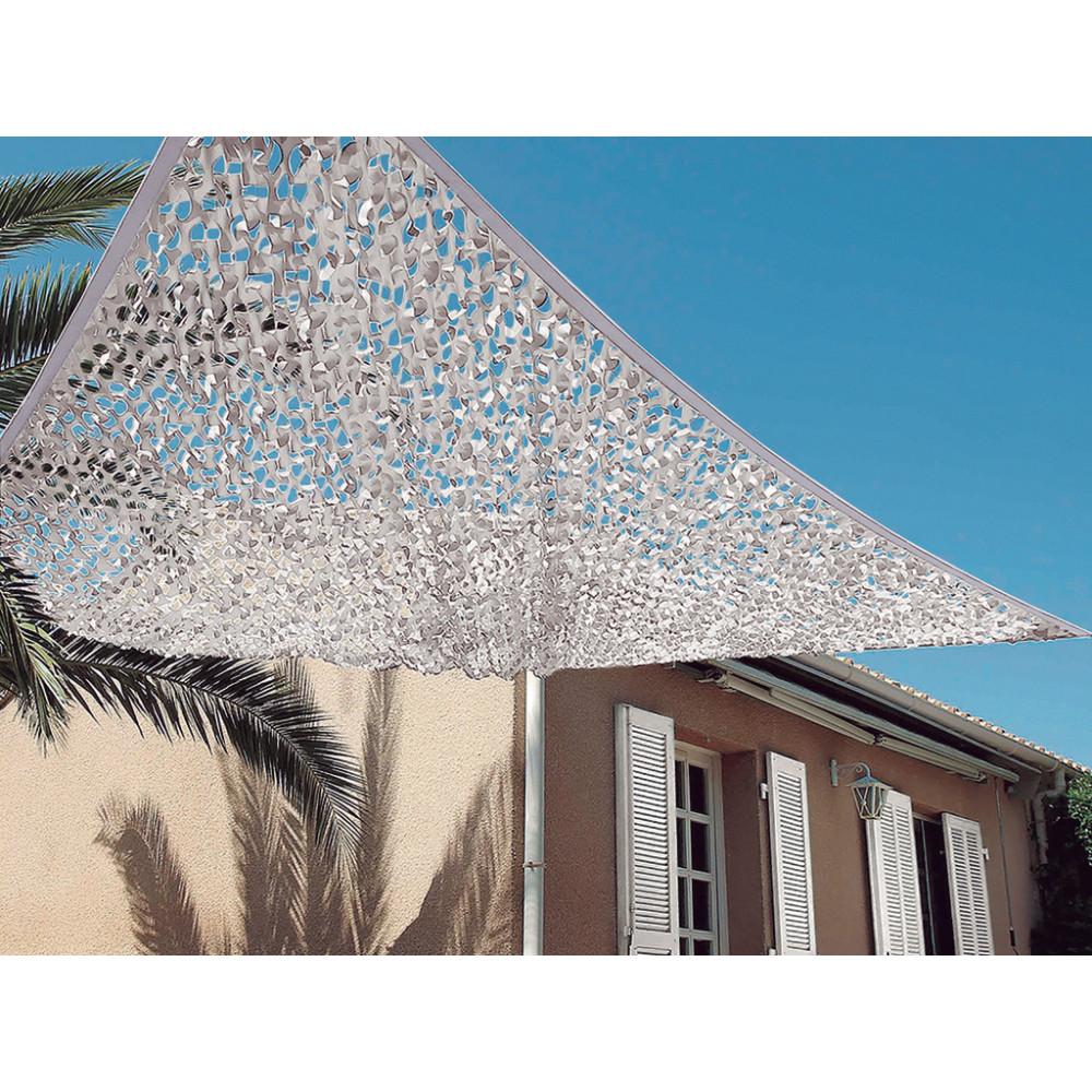 Toldo vela troquelado bicolor reversible efecto chill-out 3x4m blanco-gris Nortene SAHARA