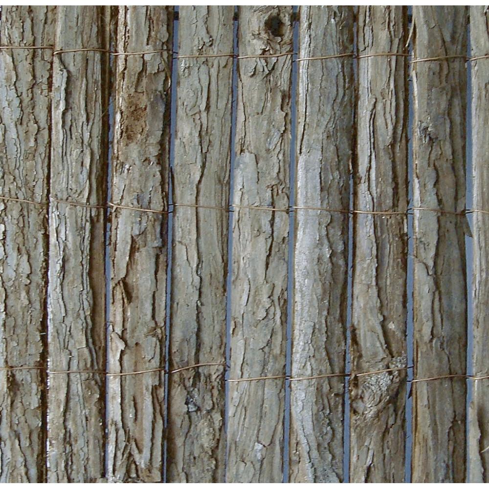 Valla cañizo corteza de abeto pino natural 2x3m Nortene MILWAKEE
