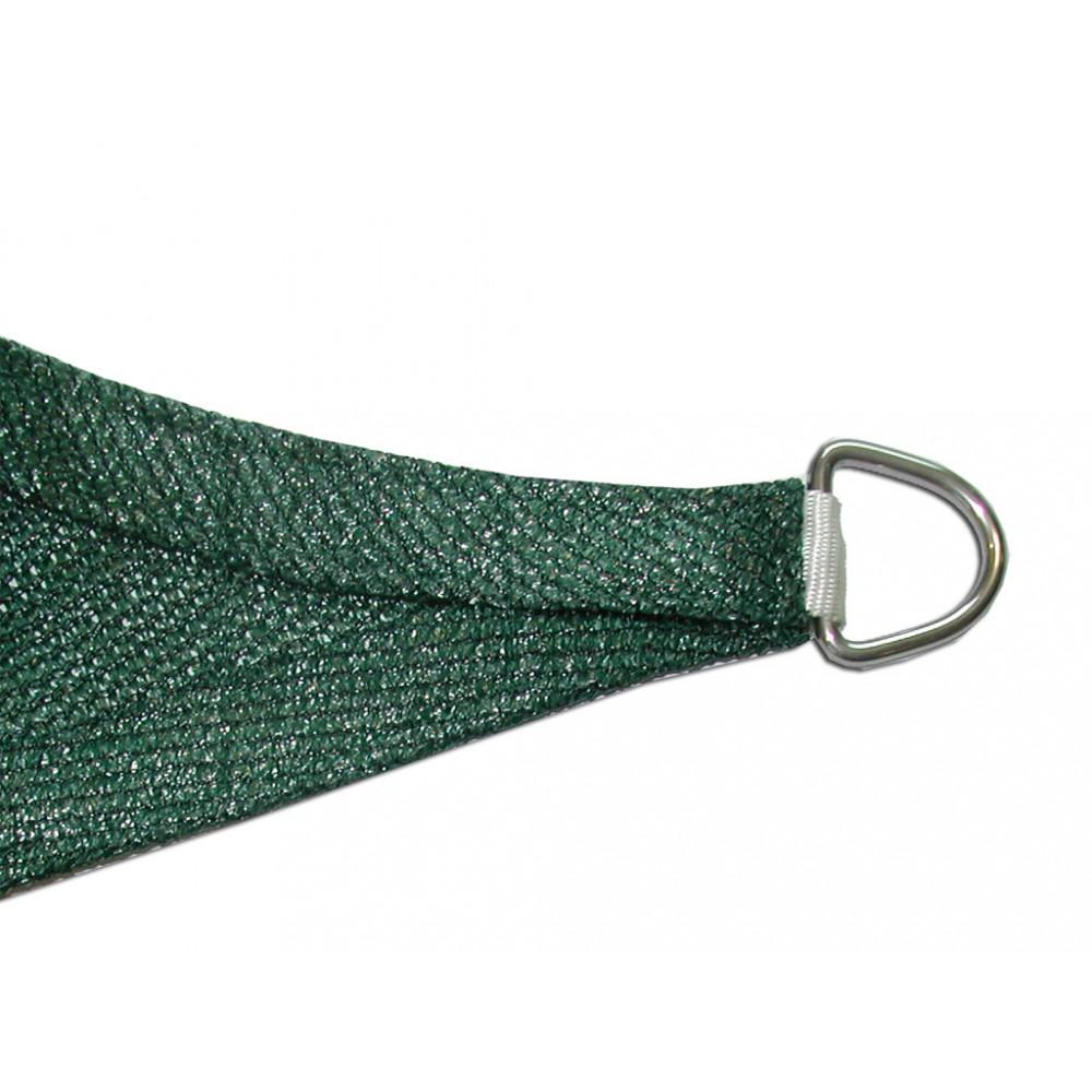 Vela de sombreo cuadrada 3,60 x 3,60 Verde Nortene kit completo
