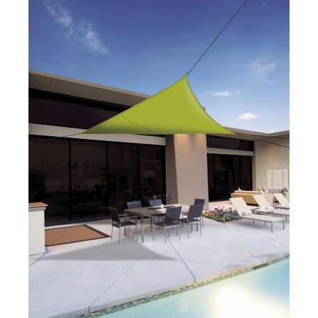 Vela de sombreo impermeable triangular 3,60 x 3,60x3,60m Verde lima Nortene