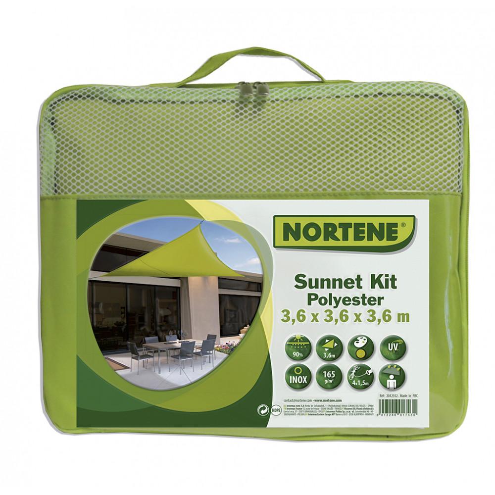 Vela de sombreo impermeable cuadrada 5x5m Beige Nortene
