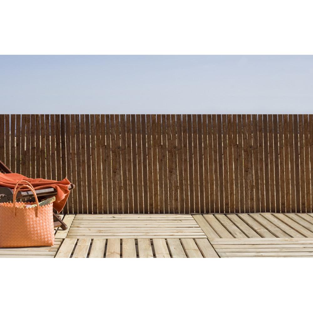 Valla cañizo corteza de abeto pino natural 1x3m Nortene MILWAKEE