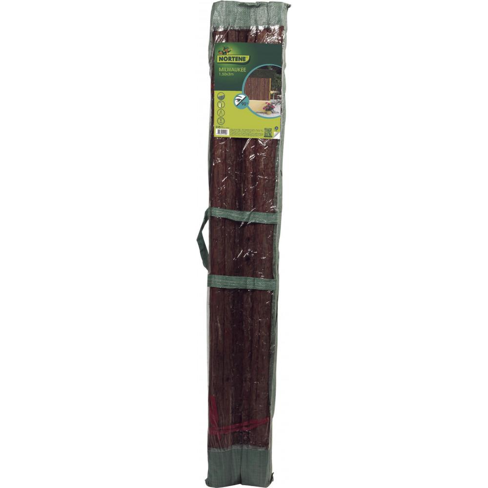 Valla cañizo corteza de abeto pino natural 1,5x3m Nortene MILWAKEE