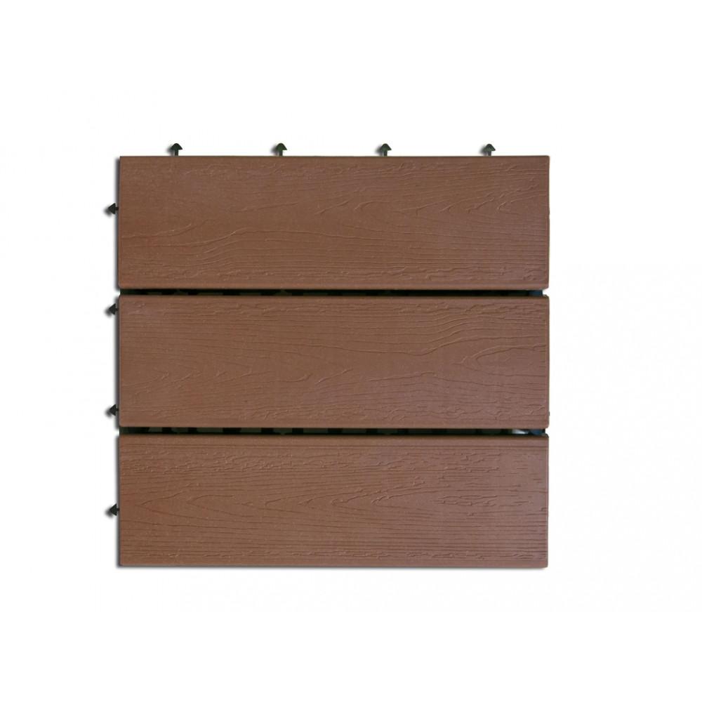 Loseta exterior composite color marrón 30 x 30cm 6uds TERRA Nortene
