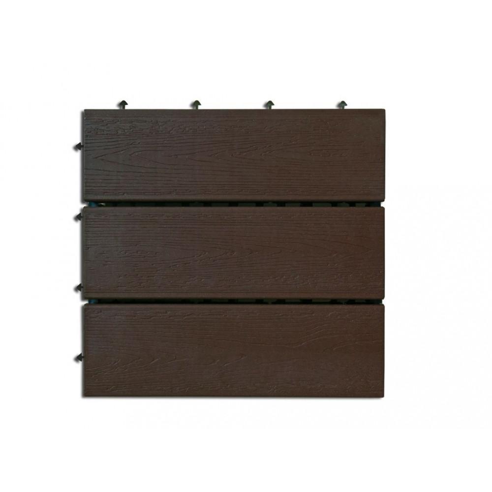 Loseta exterior composite color chocolate 30 x 30cm 6uds CHOCO Nortene