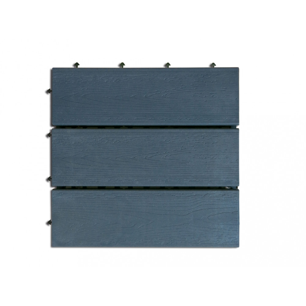 Loseta exterior composite color antracita 30 x 30cm 6uds CITY Nortene
