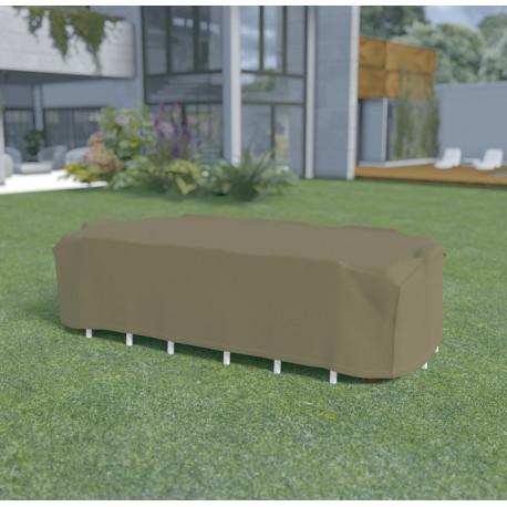 Funda mesa rectangular + 8 sillas de 3,25x2,05 x h0,90m Nortene