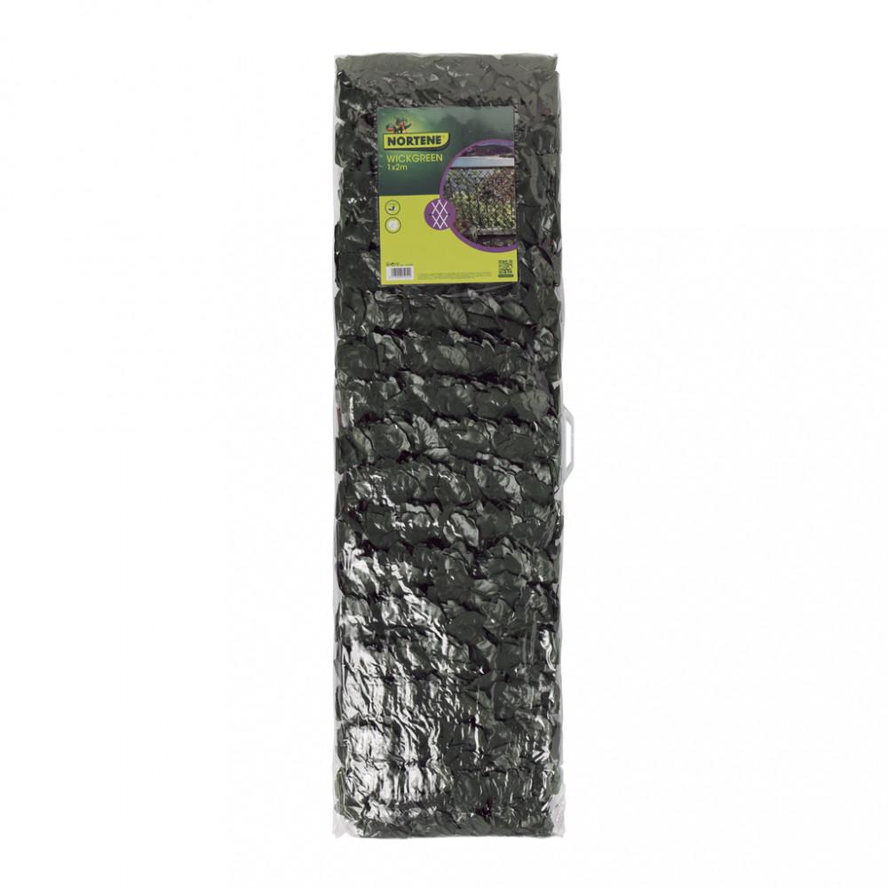 Celosía extensible mimbre con hojas artificiales 1x2m Nortene WICKGREEN