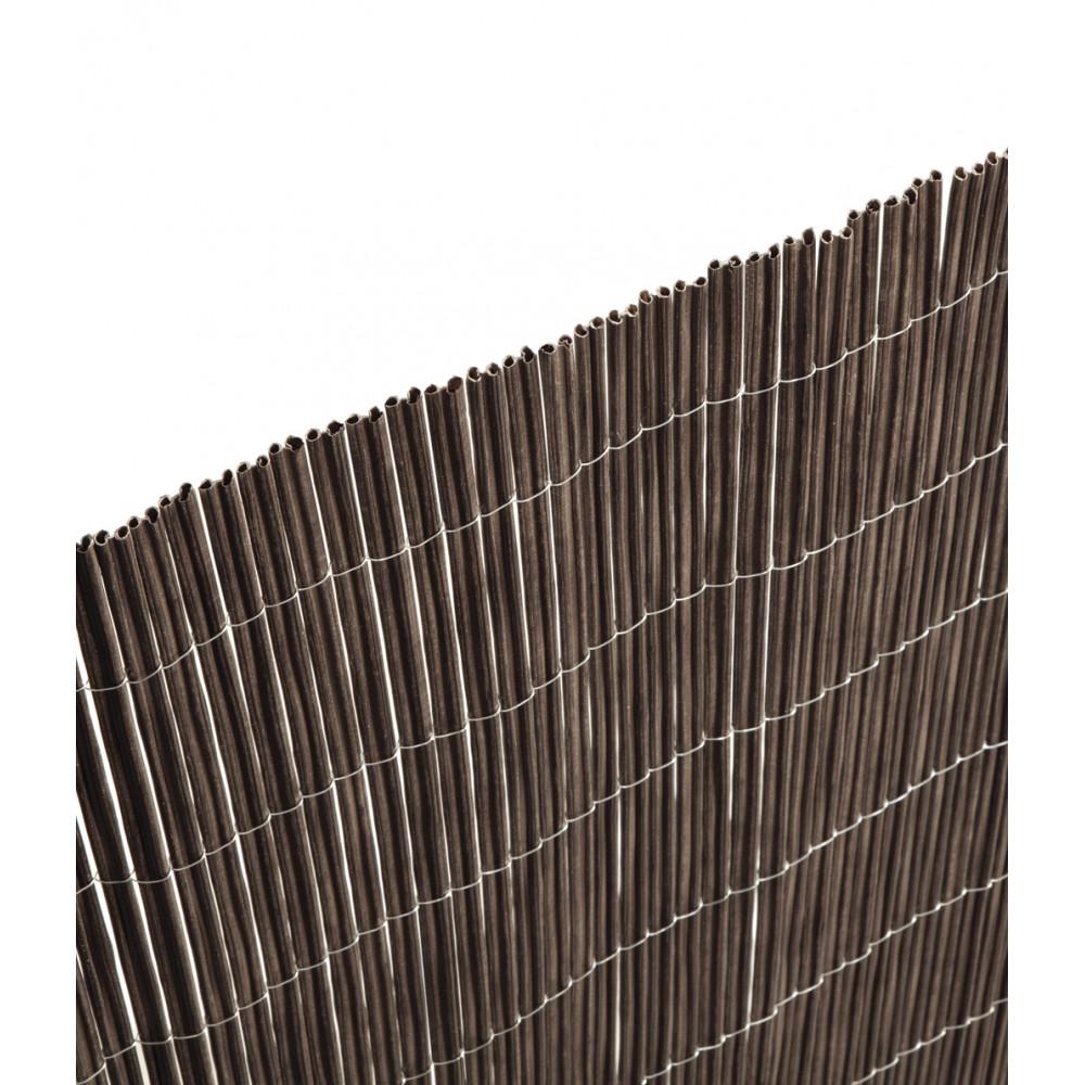Cañizo sintético imitación natural ceniza 1x3m ocultación muy alta Nortene FENCY TWIN
