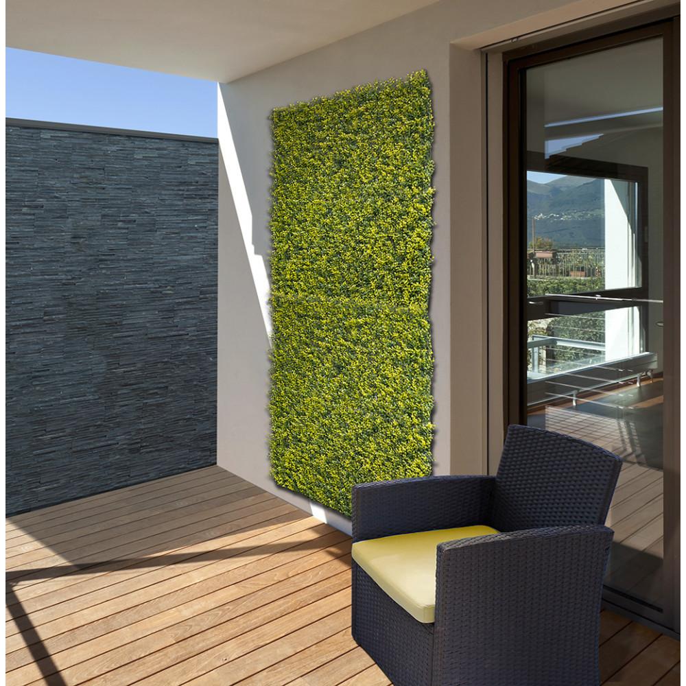 Jardín Vertical sintético Buxus imitación hojas de boj Nortene