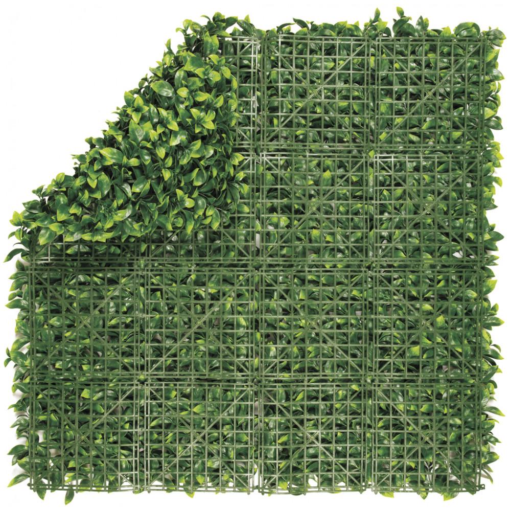Jardín Vertical sintético Lauro imitación hojas de laurel Nortene