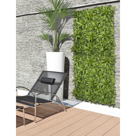 Jardín vertical sintético VERTICAL JUNGLE imitación plantas y flores tropicales Nortene