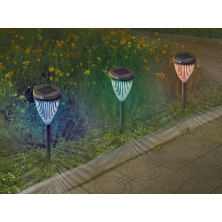 Balizas solares de colores Adenis 4 unidades Nortene