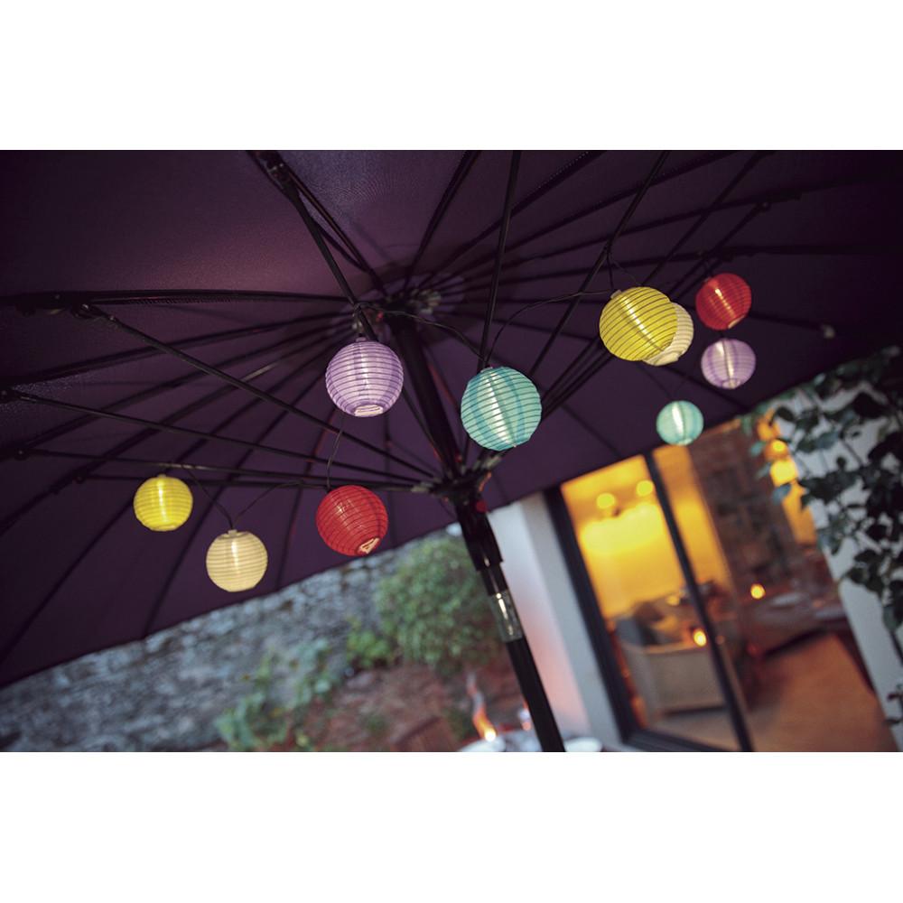 Guirnalda de luces solares led de colores Samba Nortene