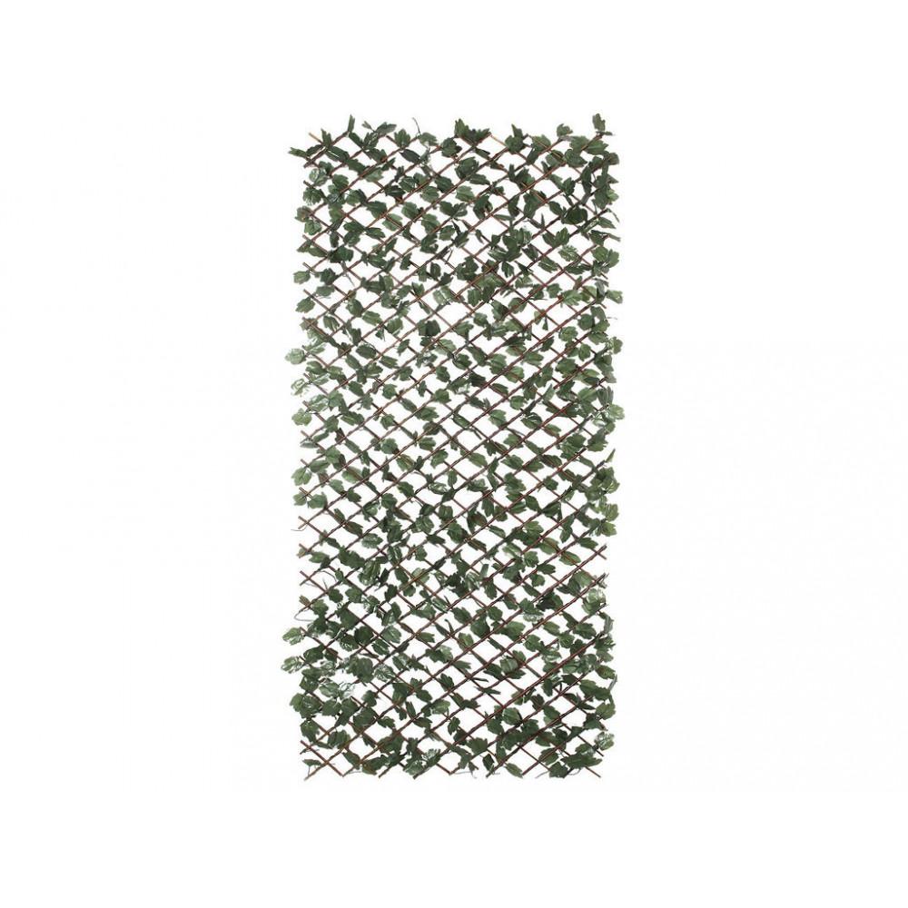 Celosía extensible mimbre con hojas artificiales 1x3m Nortene WICKGREEN