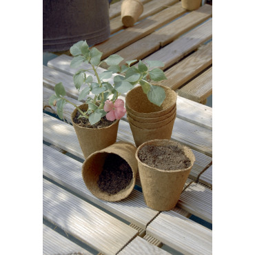 Macetas 100% biodegradables GROWING POT Ø6cm Nortene