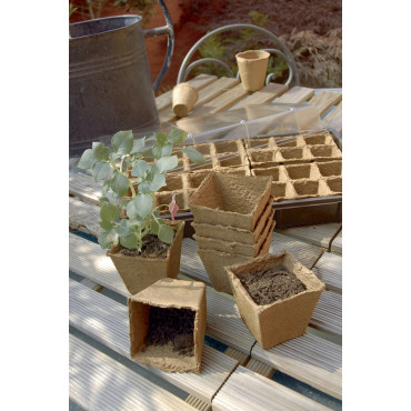 Macetas 100% biodegradables GROWING POT 6 x 6 cm Nortene