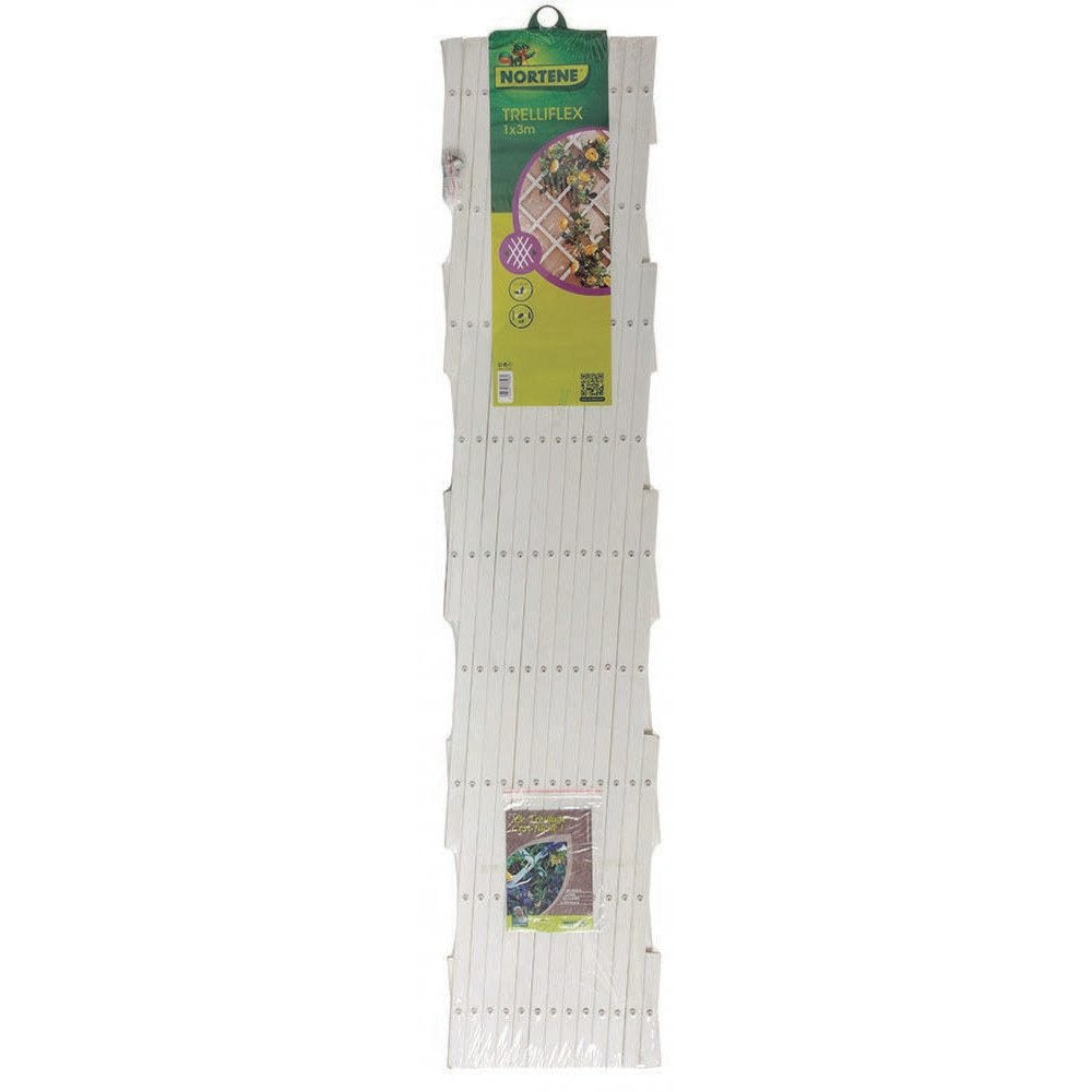 Celosía extensible 1 x 3 m TRELLIFLEX blanco Nortene