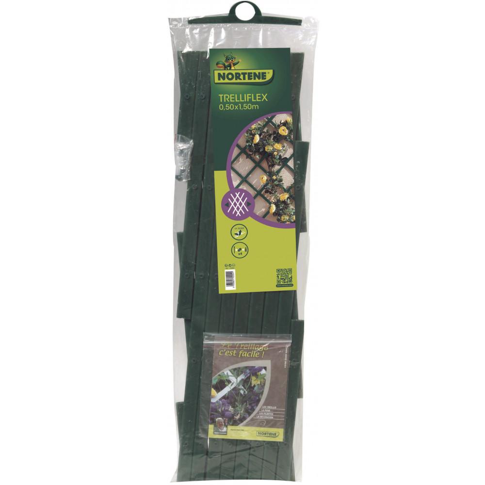 Celosía extensible 0,5 x 1,5 m TRELLIFLEX verde Nortene