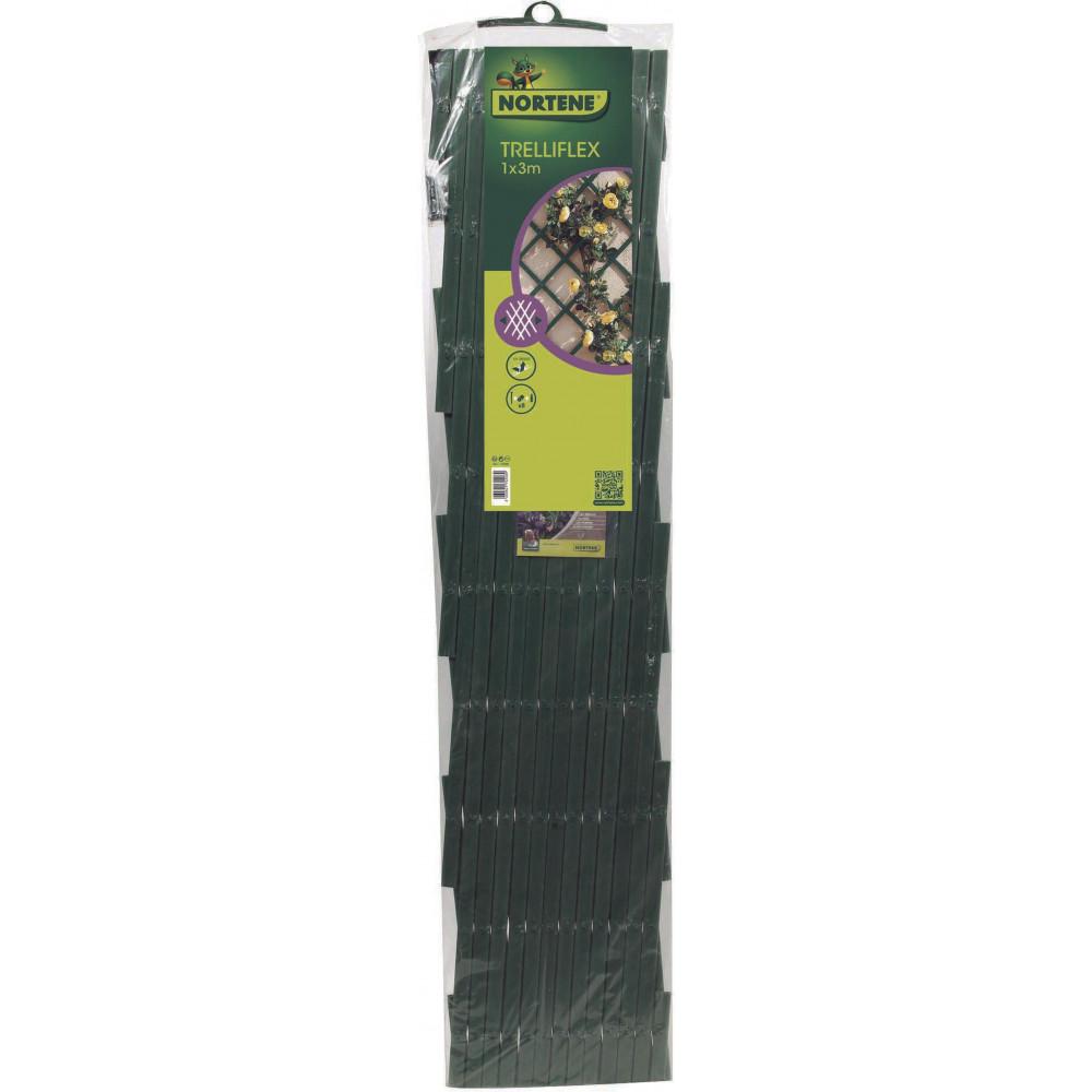Celosía extensible 1 x 3 m TRELLIFLEX verde Nortene