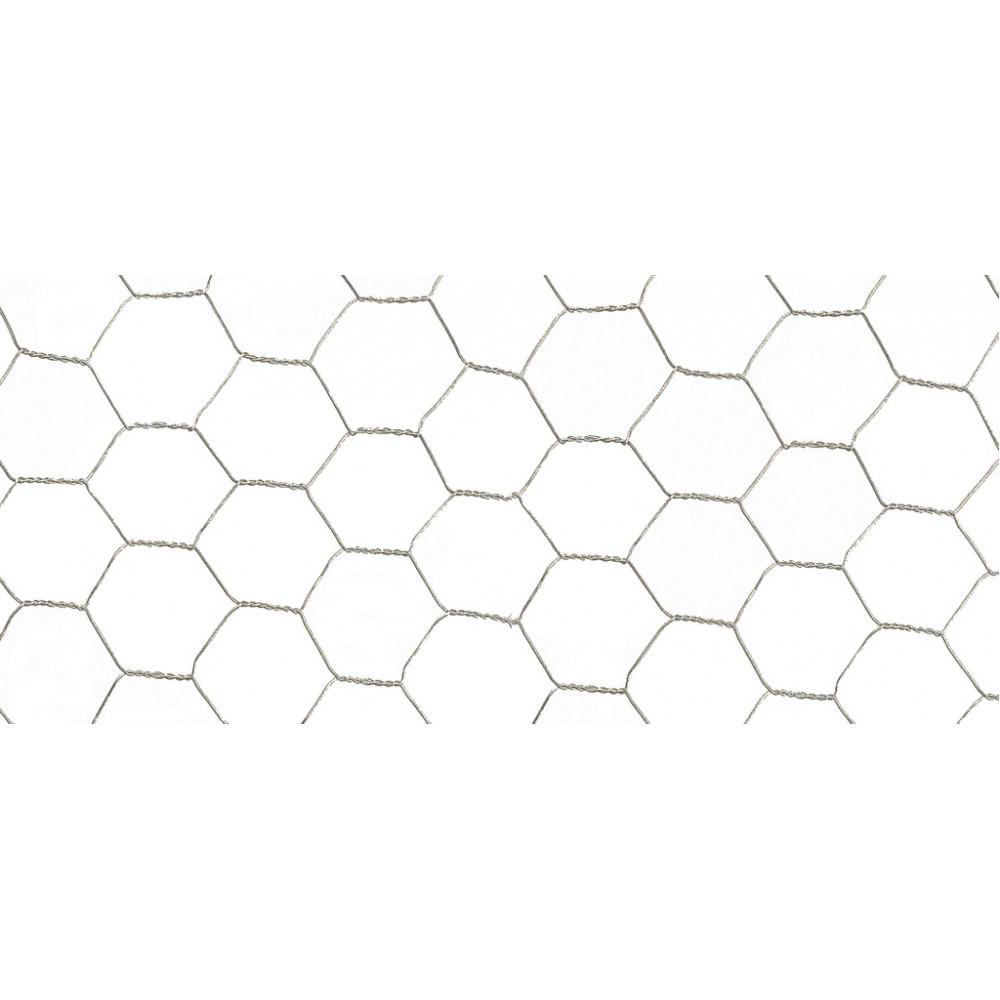 Malla metálica de triple torsión GALVANEX 19 0,5 x 10 m Nortene