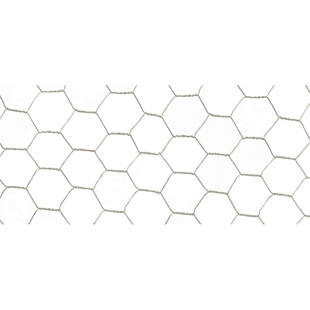 Malla metálica de triple torsión GALVANEX 41 0,5 x 10 m Nortene