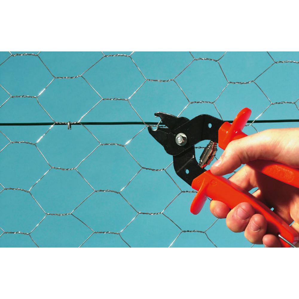 Malla de triple torsión plastificada GALVANEX PLAST 19 0,5 x 10 m Nortene