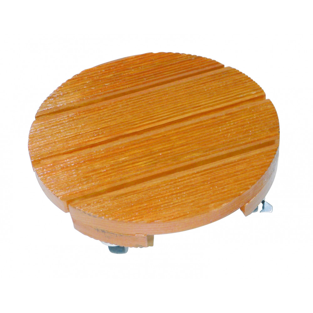 Soporte rodante de madera redondo ø 0,40 m FLORA ROLL LASURE Nortene