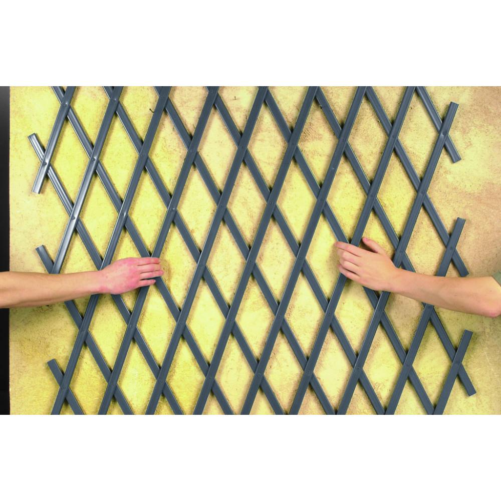 Celosía extensible 1 x 2 m TRELLIFLEX antracita Nortene