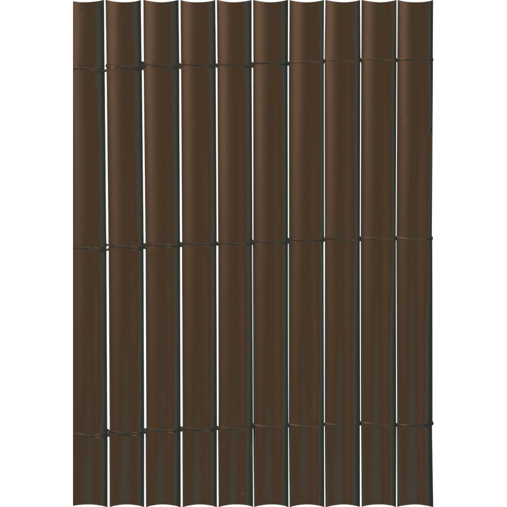 Cañizo media caña PLASTICANE 1 x 3 m marrón Nortene