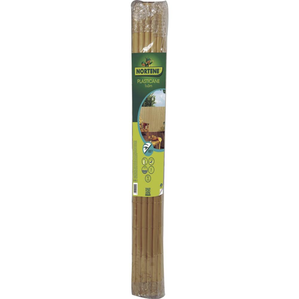 Cañizo media caña PLASTICANE 1 x 3 m beige Nortene