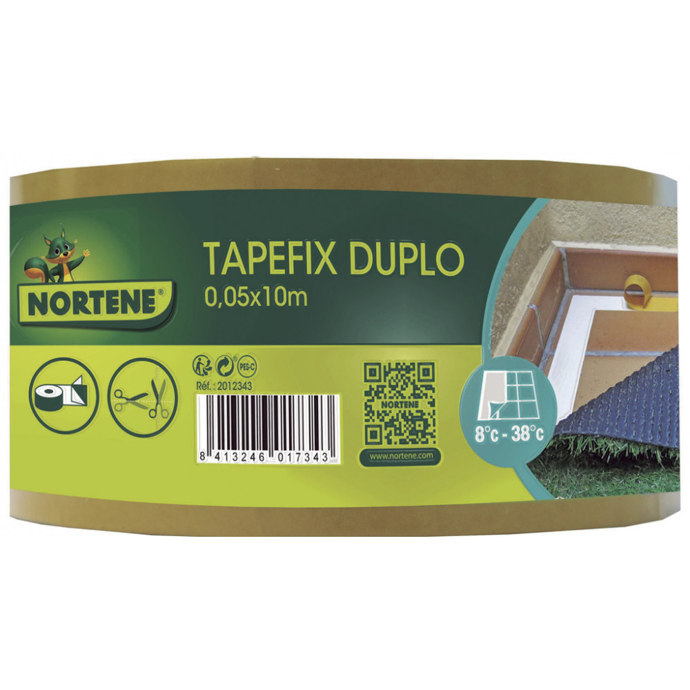 Cinta adhesiva doble cara TAPEFIX DUPLO Nortene