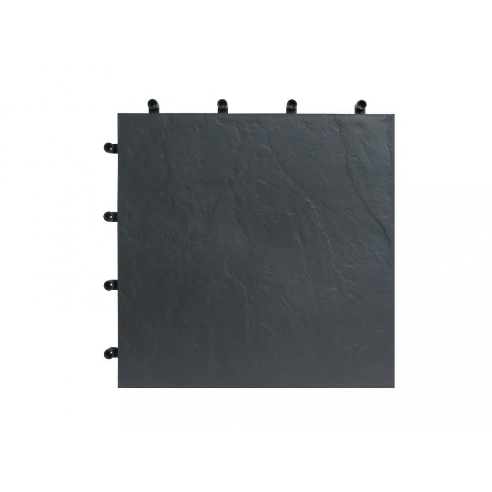 Loseta imitación pizadda cuadrada 40x40cm 6 uds BLACKNITE Nortene