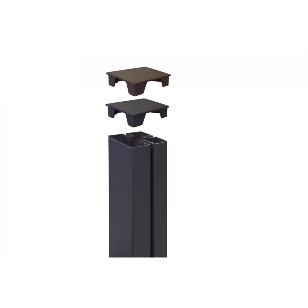 Tapa para cubrir poste 6 x 6 x h 2,1 cm TAP ALUPOST marrón Nortene