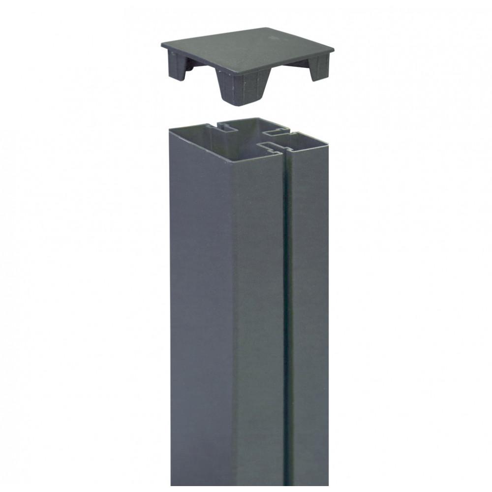 Tapa para cubrir poste 6 x 6 x h 2,1 cm TAP ALUPOST óxido Nortene
