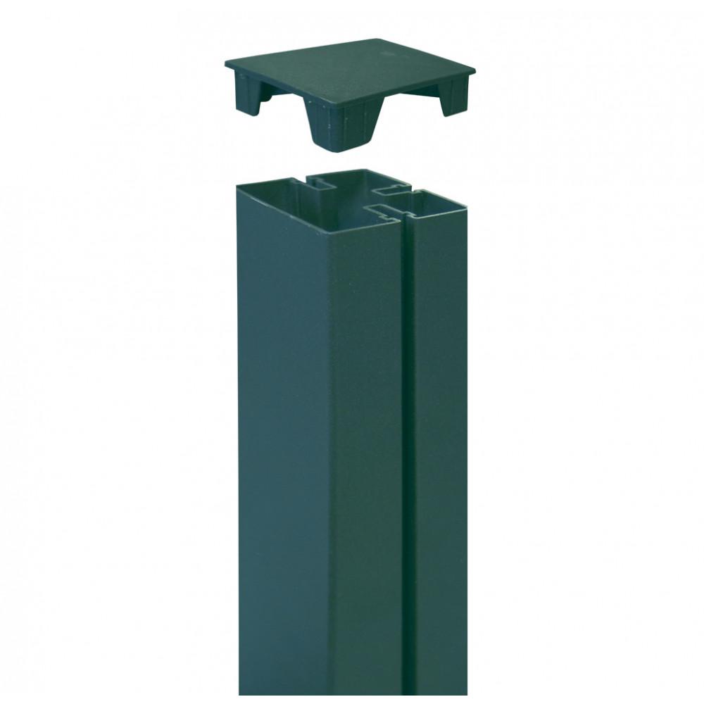 Tapa para cubrir poste 6 x 6 x h 2,1 cm TAP ALUPOST verde Nortene