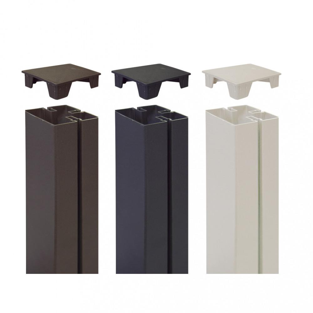 Tapa para cubrir poste 6 x 6 x h 2,1 cm TAP ALUPOST blanco Nortene