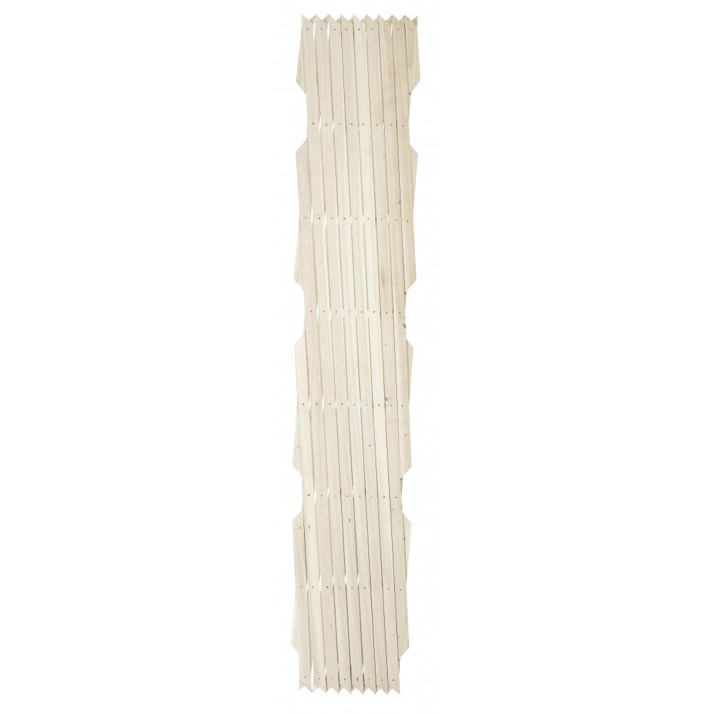 Celosía extensible de madera pintada TRELLIWOOD COLOR blanco Nortene