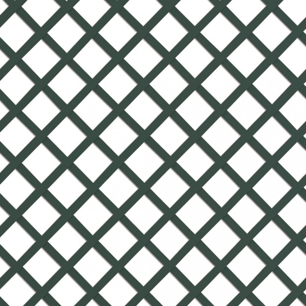 Celosía fija sin marco QUADRY verde Nortene