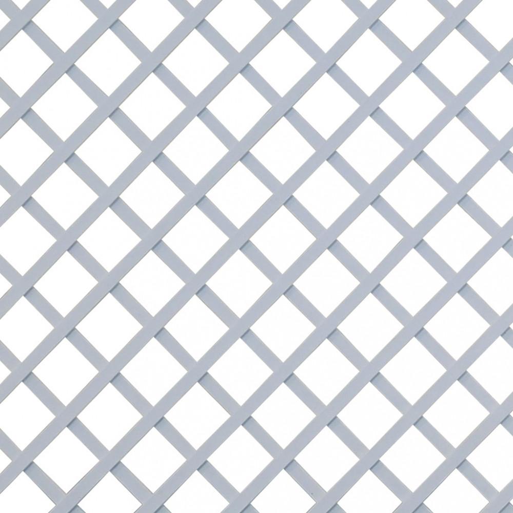 Celosía fija sin marco QUADRY blanco Nortene