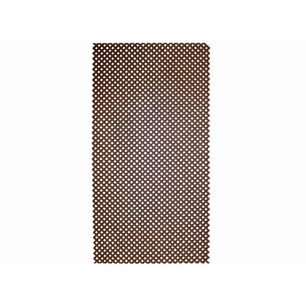 Celosía fija sin marco QUADRY marrón Nortene