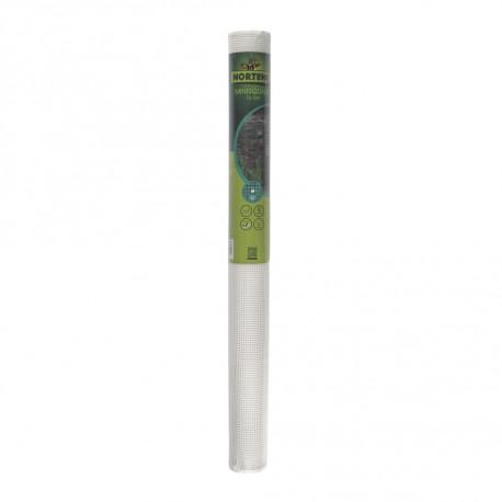 Malla cuadrada ligera SQUARE 5 x 5, 1 x 5 m blanco Nortene