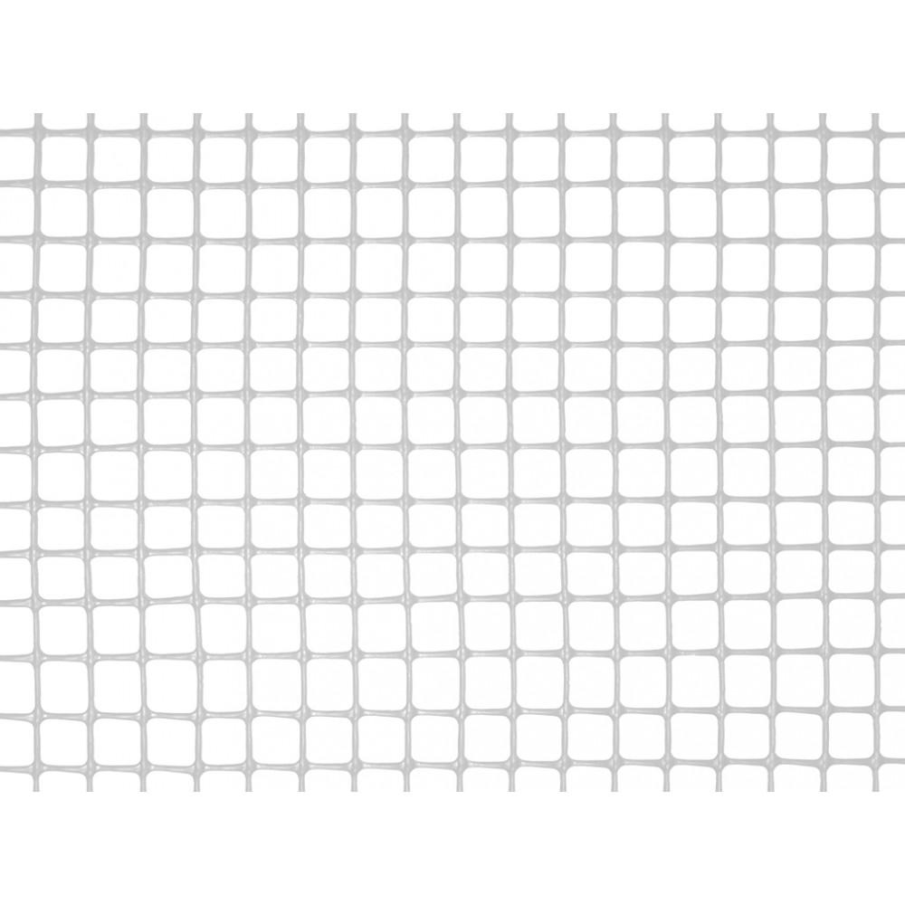 Malla cuadrada ligera SQUARE 10 x 10, 1 x 5 m blanco Nortene