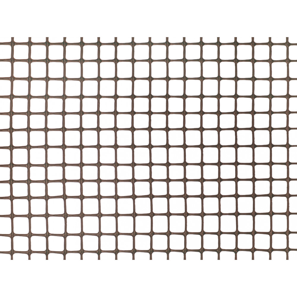 Malla cuadrada ligera SQUARE 10 x 10, 1 x 5 m marrón Nortene