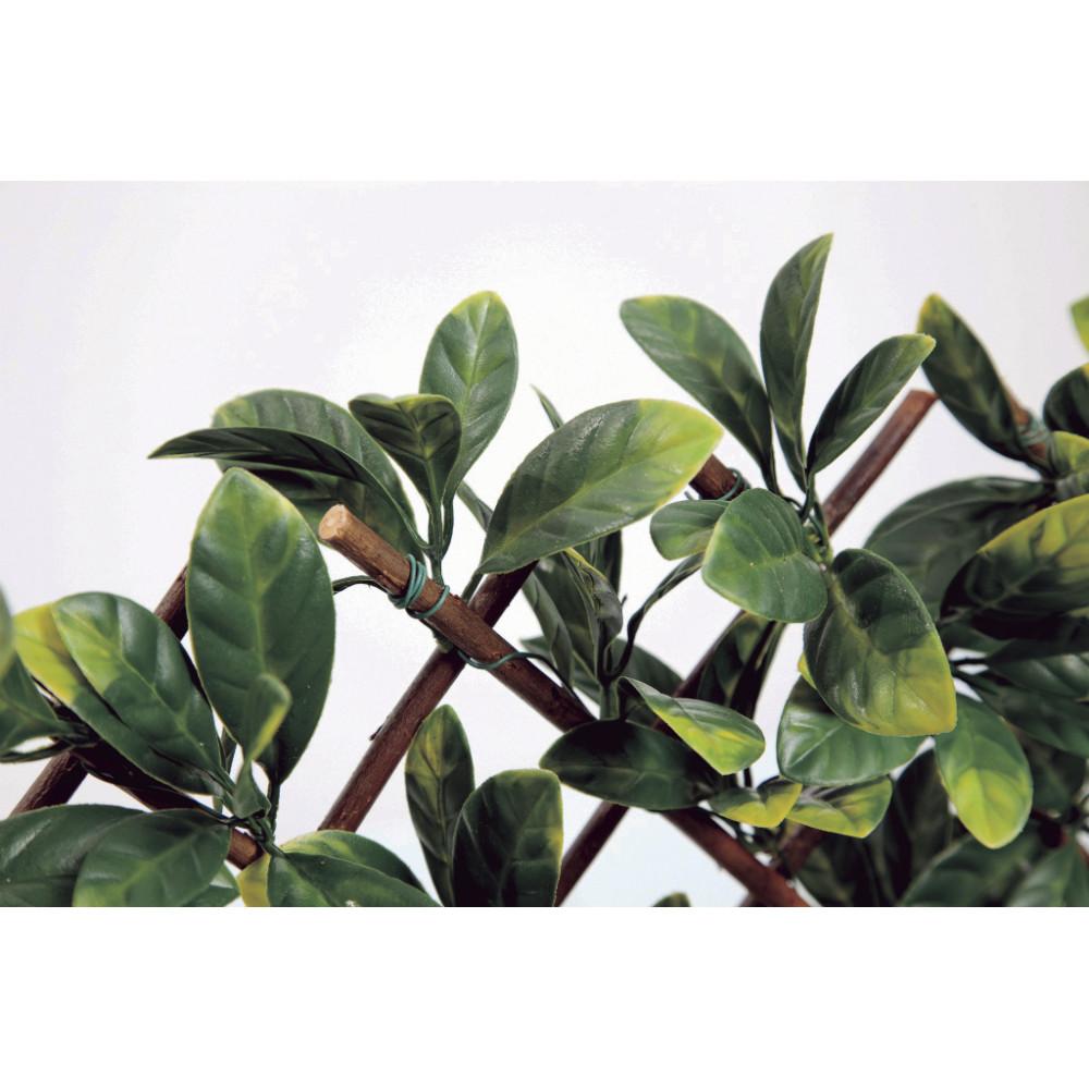 Celosía extensible de mimbre natural con hojas de laurel artificiales WILLGREEN 1 x 3 m Nortene