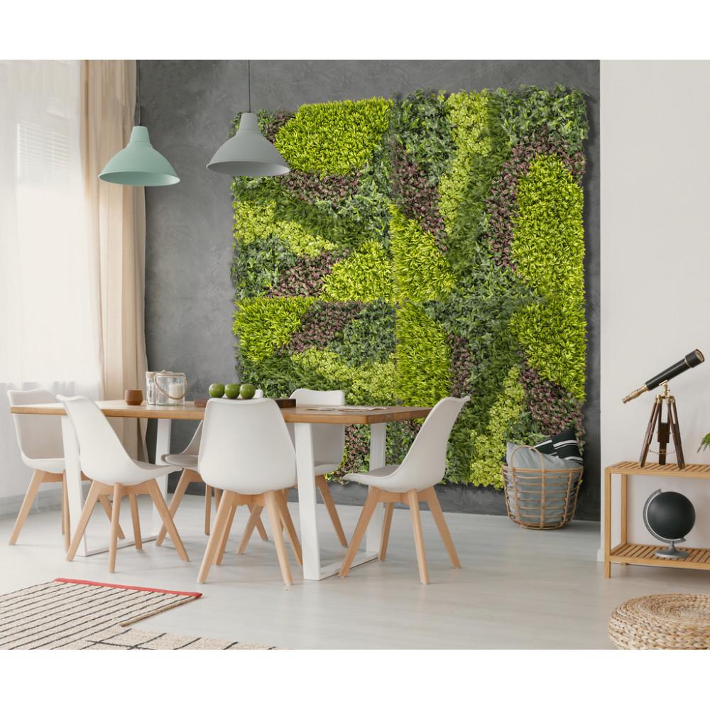 Jardín vertical sintético VERTICAL COSTA mix de hojas y diseño zigzag Nortene