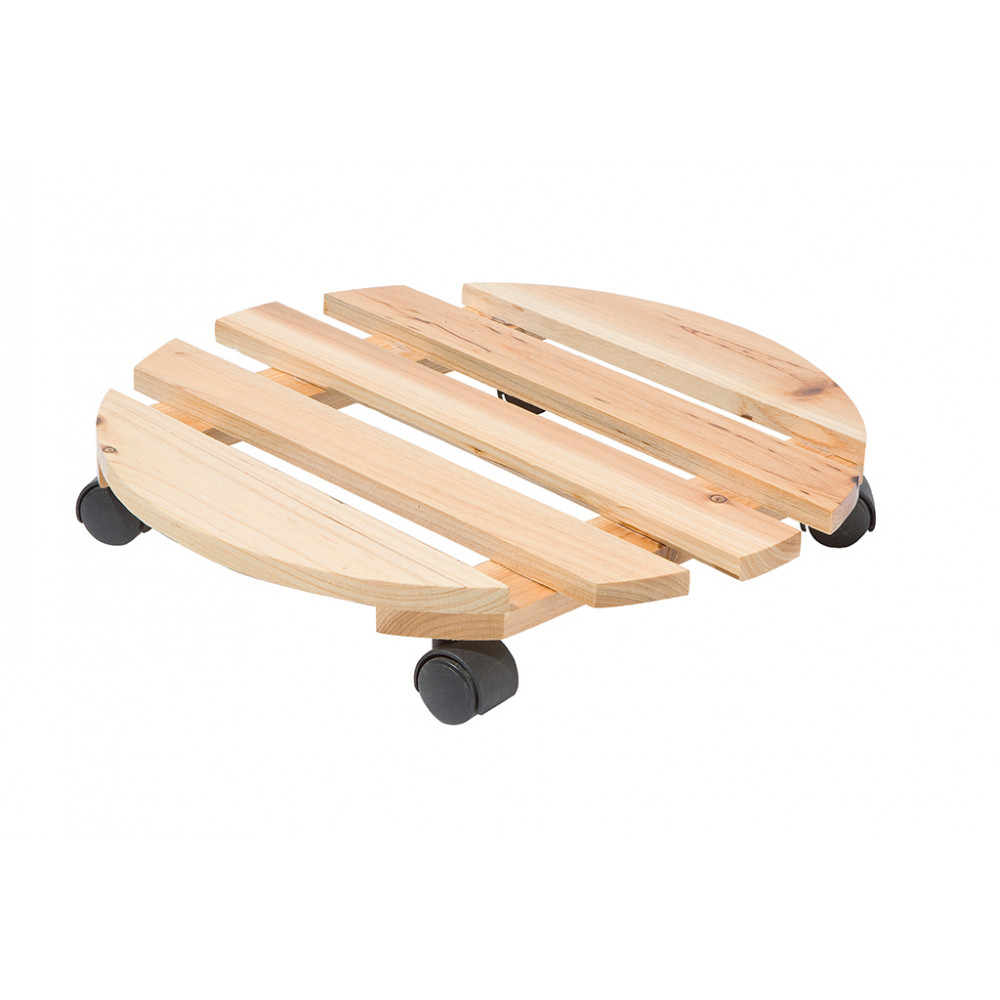 Soporte rodante de madera de pino ø 0,35 m FLORA ROLL NATURA Nortene