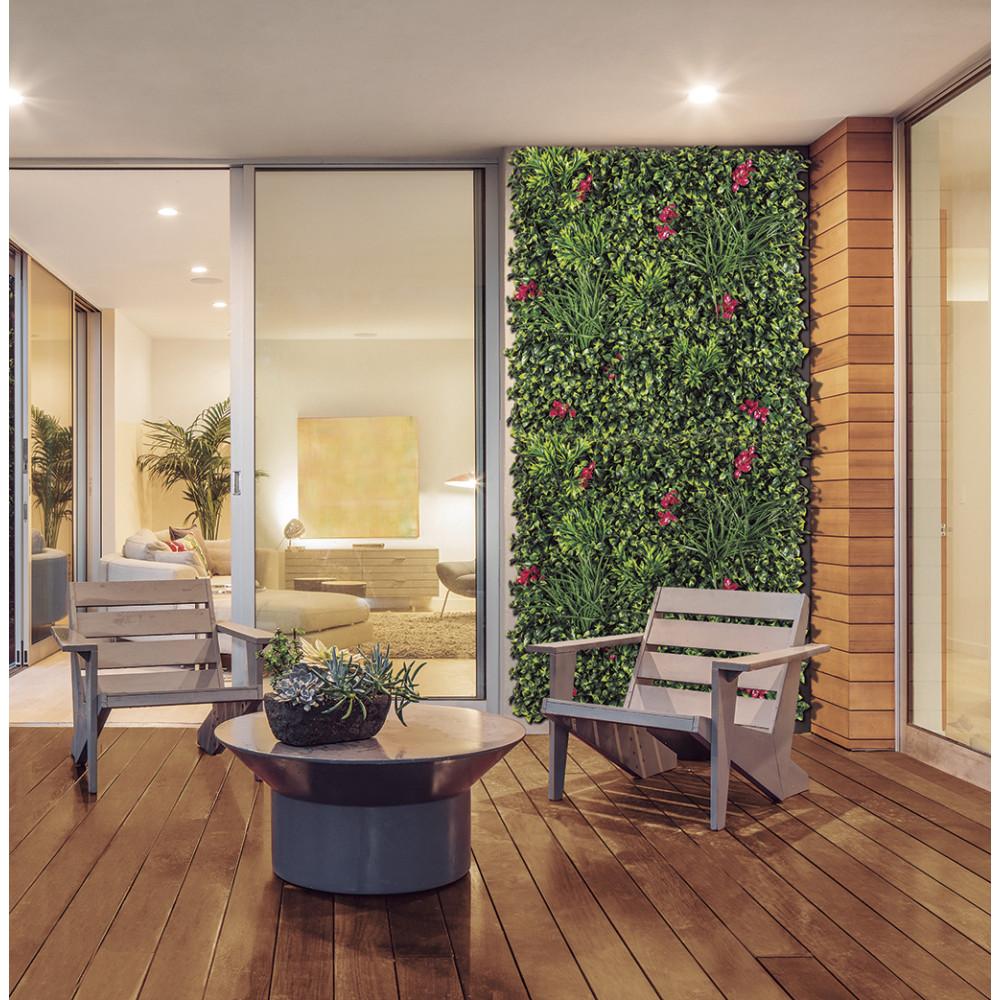 Jardín vertical sintético VERTICAL VILLA imitación buganvilla Nortene
