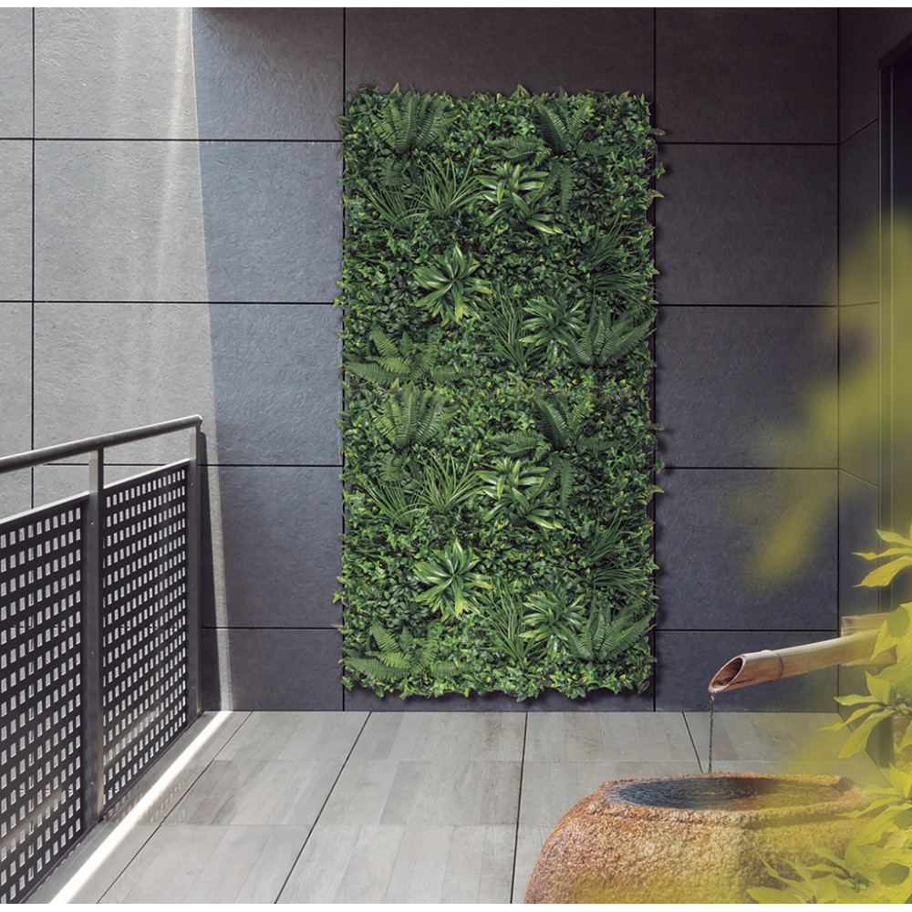 Jardín Vertical sintético Tropic imitación plantas tropicales